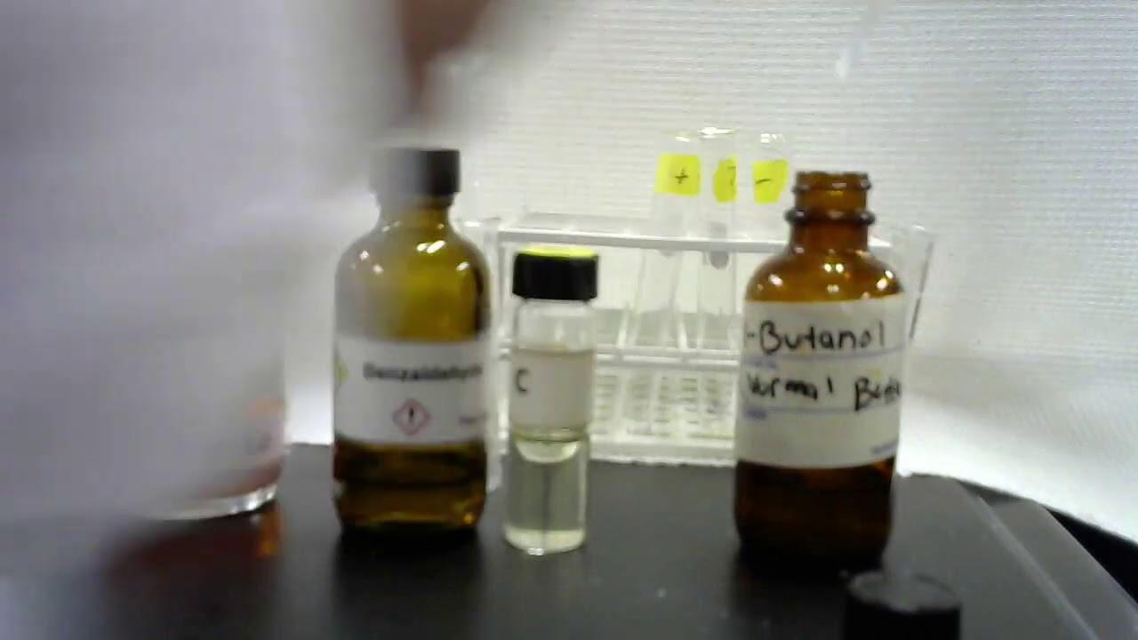 2,4-DNP test on a liquid