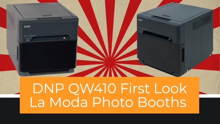DNP QW410 is the smallest photo booth printer I would buy.