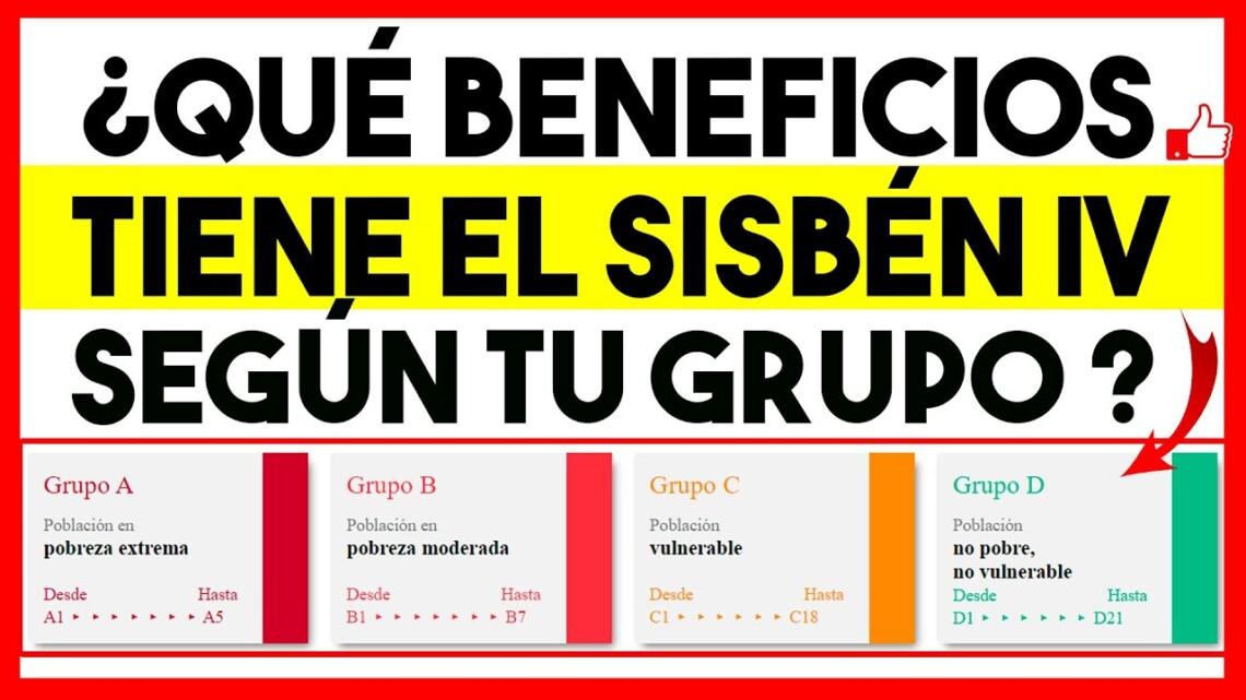 ¿Qué Beneficios tiene el Sisbén IV, SEGÚN TU GRUPO ? | A-B-C-D | Ingreso Solidario, Devolución IVA..