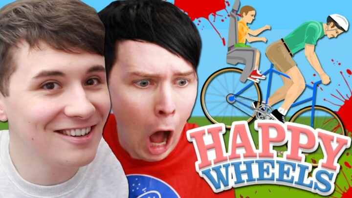 Dan and Phil play HAPPY WHEELS!!