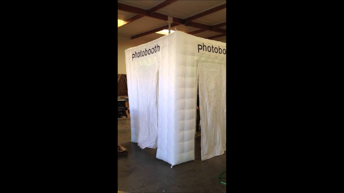 White Inflatable 4 Door Wall Cube Photo Booth