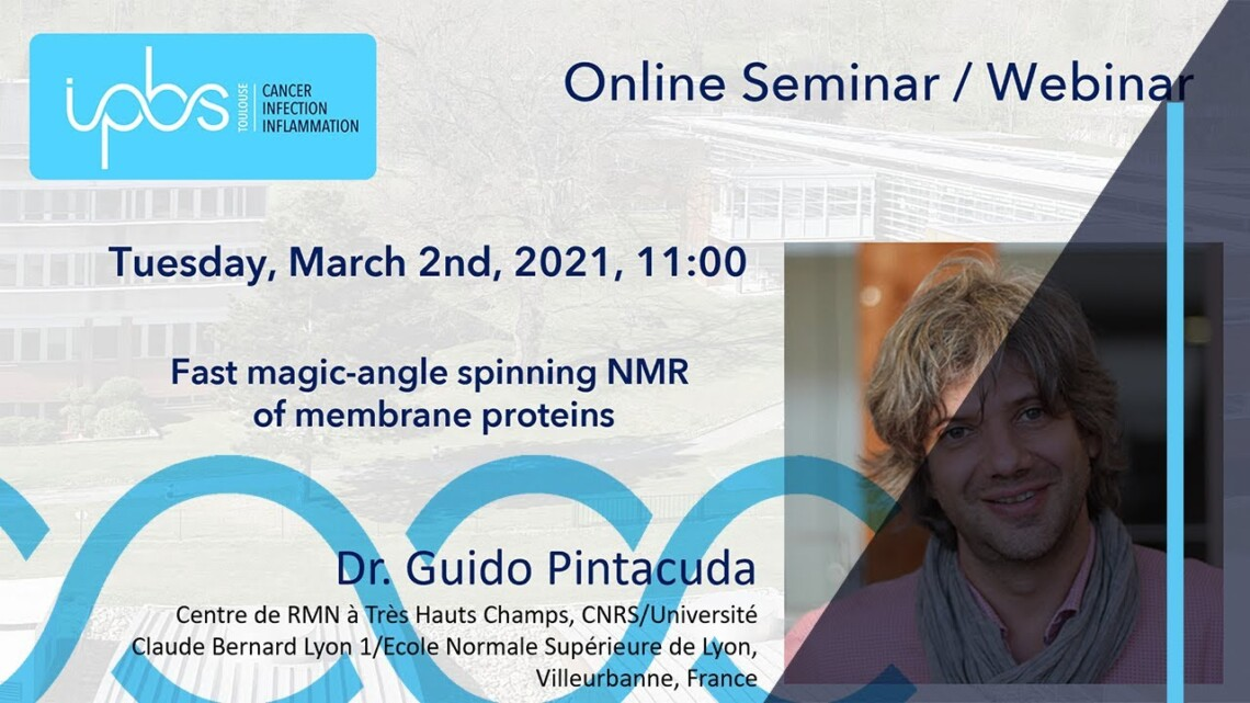Dr. Guido Pintacuda – Fast magic-angle spinning NMR of membrane proteins