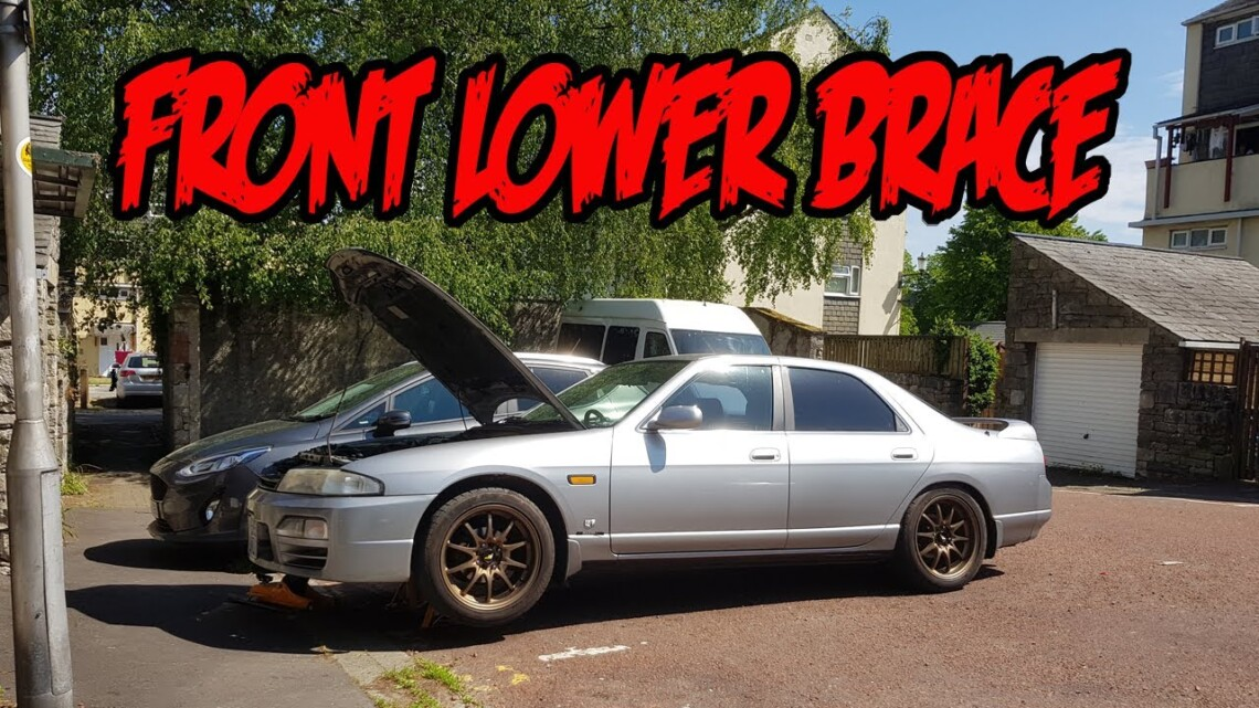 Installing a front lower chassis brace on my R33 Nissan Skyline
